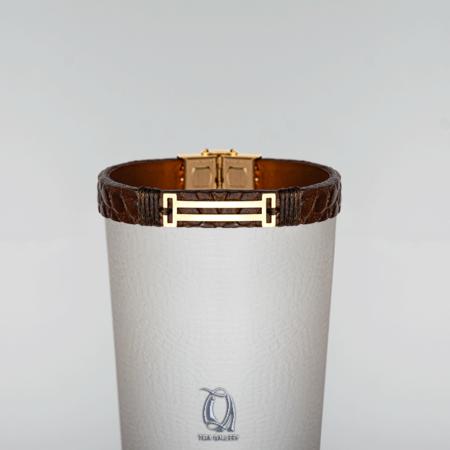 دستبند طلا چرم طرح TB1222