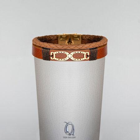 دستبند طلا چرم طرح TB 1212